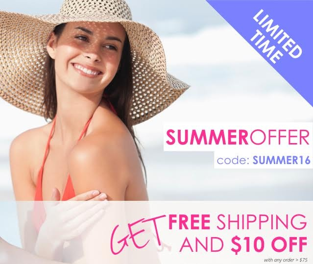 Get $10 off + free shipping on orders over $75 with code SUMMER16