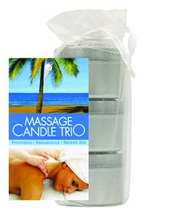 Massage Candle 3pc Pouch - Skinny Dip, Dreamsicle, & Guavalva
