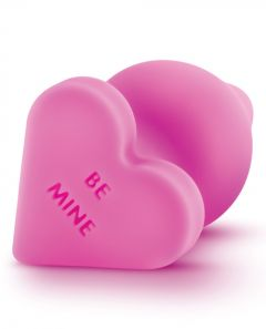 Naughty Candy Heart Butt Plug Be Mine - Pink