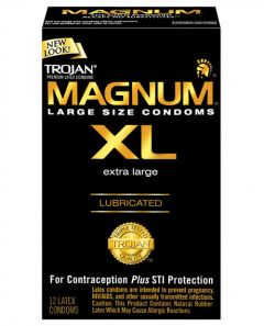 Condoms - Magnum XL Lubricated - Box of 12