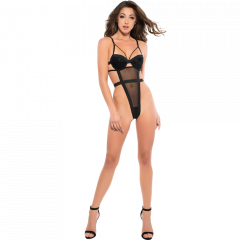 Adore Skye Teddy With Ribbon Back-Black