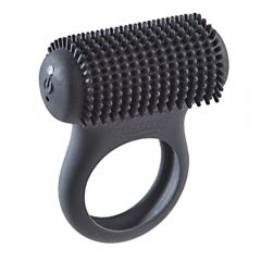 Nubbed Tickle Ring - Black