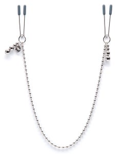 At My Mercy Beaded Chain Nipple Clamps