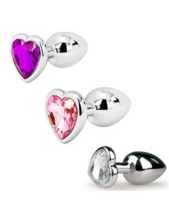 The Silver Starter Bejeweled Heart Plug