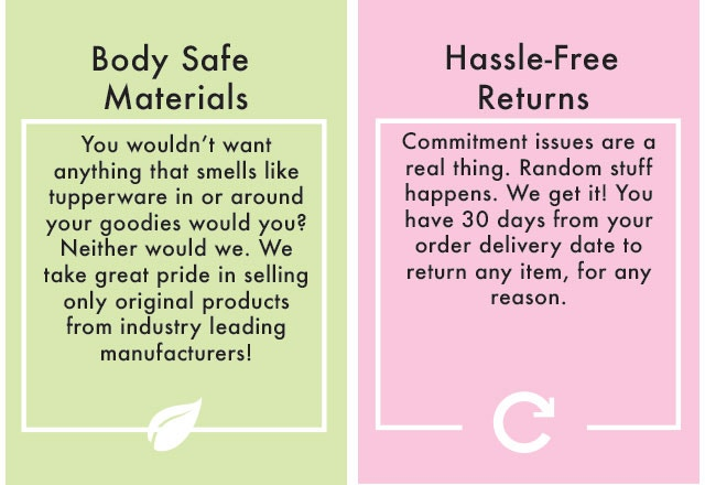 Body Safe Materials | Hassle Free Returns